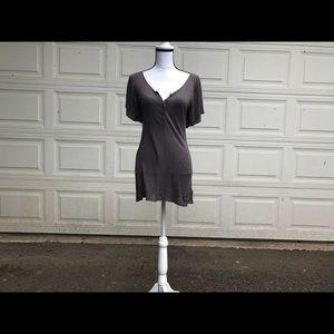 BCBGMaxazria Gray sweater tunic dress